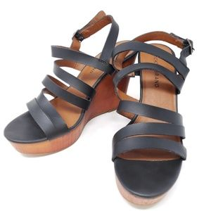 Lucky Brand Larinaa Wedge Platform Strappy Sandals